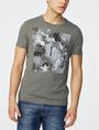ARMANI EXCHANGE Hibiscus Logo Crew Graphic T-shirt Man f