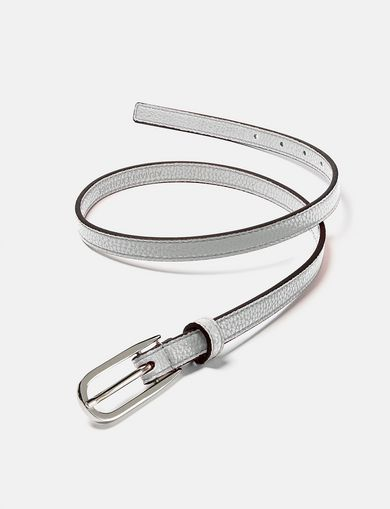 ARMANI EXCHANGE Skinny Faux-Leather Belt Woman retro