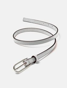 ARMANI EXCHANGE Skinny Faux-Leather Belt Belt D r