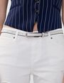 ARMANI EXCHANGE Skinny Faux-Leather Belt Belt D d