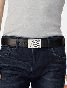 ARMANI EXCHANGE Linear A|X Placque Belt Belt [*** pickupInStoreShippingNotGuaranteed_info ***] d