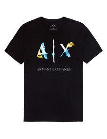 ARMANI EXCHANGE Liquid Bleed Logo Tee Graphic Tee U d