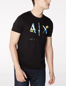 ARMANI EXCHANGE Liquid Bleed Logo Tee Graphic Tee U f