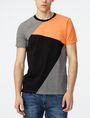 ARMANI EXCHANGE Diagonal Colorblock Crew Short Sleeve Tee U f