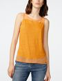 ARMANI EXCHANGE Pieced Linen Tank Tank top Woman f