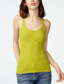 ARMANI EXCHANGE Ribbed Racerback Tank Tank top Woman f