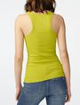ARMANI EXCHANGE Ribbed Racerback Tank Tank top Woman r