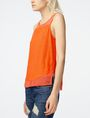 ARMANI EXCHANGE Pieced Linen Tank Tank top D d