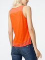 ARMANI EXCHANGE Pieced Linen Tank Tank top D r