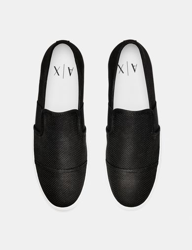 ARMANI EXCHANGE Perforated Slip-On Sneaker Man retro
