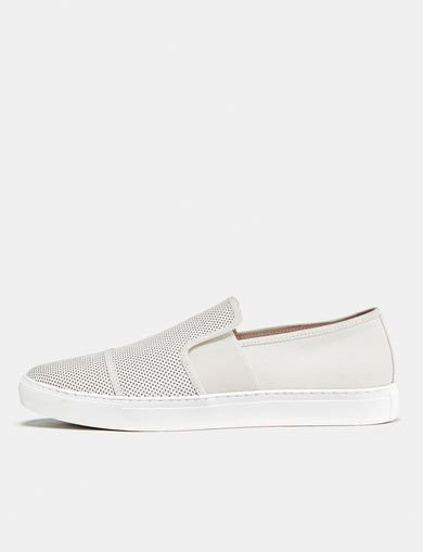 ARMANI EXCHANGE Perforated Slip-On Sneaker Man front