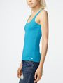 ARMANI EXCHANGE Ribbed Racerback Tank Sleeveless Tee D d