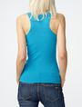 ARMANI EXCHANGE Ribbed Racerback Tank Sleeveless Tee D r