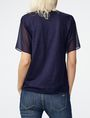 ARMANI EXCHANGE Pieced Linen Tee Short Sleeve Tee [*** pickupInStoreShipping_info ***] r