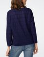 ARMANI EXCHANGE Burnout Logo Sweatshirt Top Sweatshirt Woman r