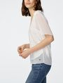 ARMANI EXCHANGE Pieced Linen Tee Short Sleeve Tee Woman d
