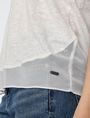 ARMANI EXCHANGE Pieced Linen Tee Short Sleeve Tee D e