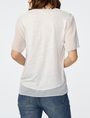 ARMANI EXCHANGE Pieced Linen Tee Short Sleeve Tee D r
