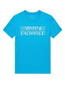 ARMANI EXCHANGE Strikethrough Logo Tee Graphic T-shirt Man d
