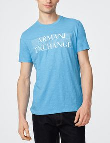 ARMANI EXCHANGE Strikethrough Logo Tee Graphic T-shirt Man f