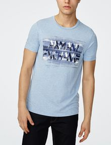ARMANI EXCHANGE Optical Illusion Logo Tee Graphic Tee U f
