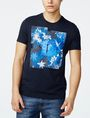 ARMANI EXCHANGE Hibiscus Logo Crew Graphic T-shirt Man f
