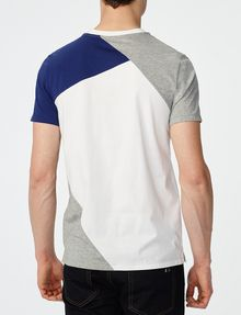 ARMANI EXCHANGE Diagonal Colorblock Crew Short Sleeve Tee Man r