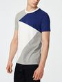 ARMANI EXCHANGE Diagonal Colorblock Crew Short Sleeve Tee U d
