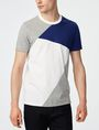 ARMANI EXCHANGE Diagonal Colorblock Crew Short Sleeve Tee Man f