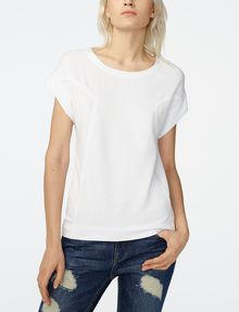 ARMANI EXCHANGE Seamed Roll-Sleeve Top Blouse Woman f