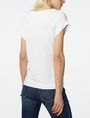 ARMANI EXCHANGE Seamed Roll-Sleeve Top Blouse D r