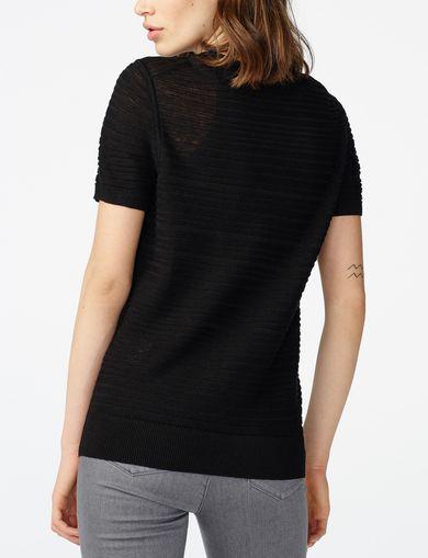 ARMANI EXCHANGE Short-Sleeve Linen Sweater Woman retro