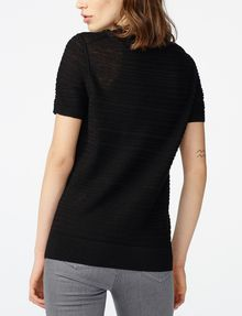 ARMANI EXCHANGE Short-Sleeve Linen Sweater Crew Neck Woman r