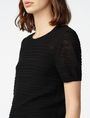 ARMANI EXCHANGE Short-Sleeve Linen Sweater Crew Neck Woman e