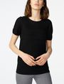 ARMANI EXCHANGE Short-Sleeve Linen Sweater Crew Neck Woman f