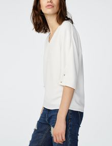 ARMANI EXCHANGE Structured V-Neck Blouse Blouse D d