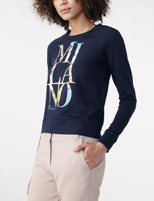 ARMANI EXCHANGE Milan Graphic City Sweatshirt Top Sweatshirt Woman d