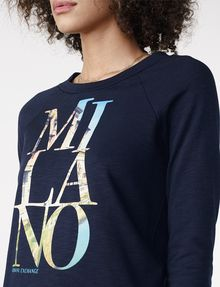 ARMANI EXCHANGE Milan Graphic City Sweatshirt Top Sweatshirt D e