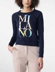 ARMANI EXCHANGE Milan Graphic City Sweatshirt Top Sweatshirt D f