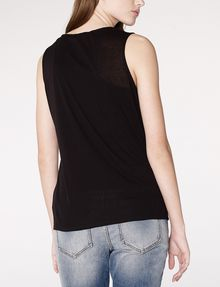 ARMANI EXCHANGE Drape-Front Shell Tank top D r