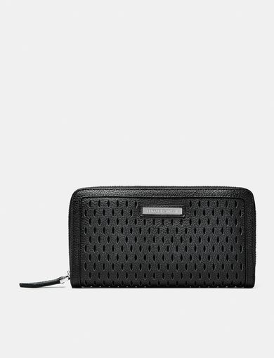 ARMANI EXCHANGE Perforated Zip Wallet Woman front