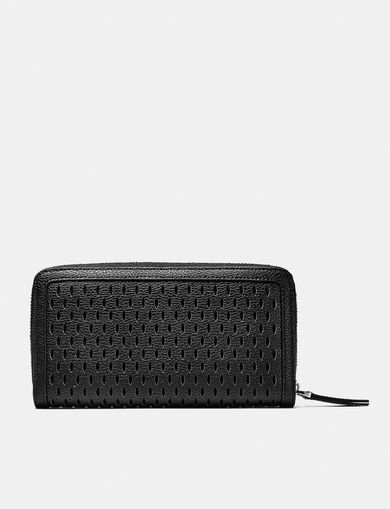 ARMANI EXCHANGE Perforated Zip Wallet Woman retro