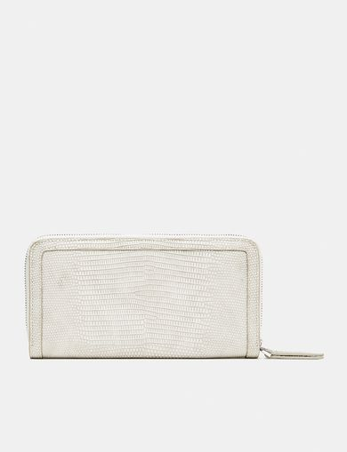 ARMANI EXCHANGE Lizard Zip Wallet Woman retro