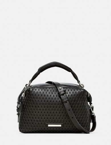ARMANI EXCHANGE Perforated Mini Crossbody Woman front