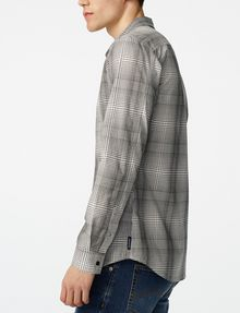 ARMANI EXCHANGE Yarn-Dyed Shifting Grid Shirt Long sleeve shirt U d