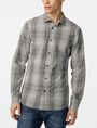 ARMANI EXCHANGE Yarn-Dyed Shifting Grid Shirt Long sleeve shirt U f