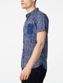 ARMANI EXCHANGE Contrast Trim Floral Shirt Short sleeve shirt U d