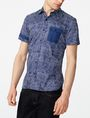 ARMANI EXCHANGE Contrast Trim Floral Shirt Short sleeve shirt Man f