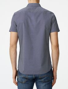 ARMANI EXCHANGE Short-Sleeve Mixed Microdot Shirt Short sleeve shirt [*** pickupInStoreShippingNotGuaranteed_info ***] r