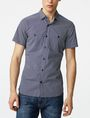ARMANI EXCHANGE Short-Sleeve Mixed Microdot Shirt Short sleeve shirt [*** pickupInStoreShippingNotGuaranteed_info ***] f